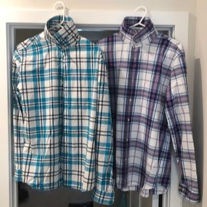 2 Men's Express Fitted Shirts Sz L 16-16.5